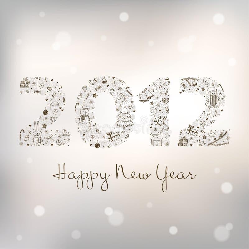 greeting nytt s år för 2012 kort royaltyfria foton