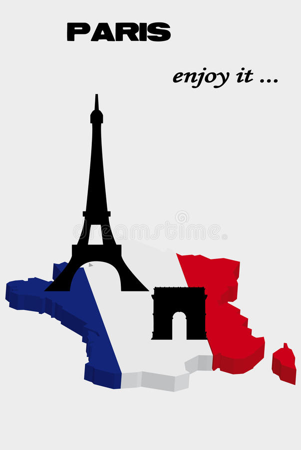 Download Greeting from Paris stock vector. Image of construction - 12735763