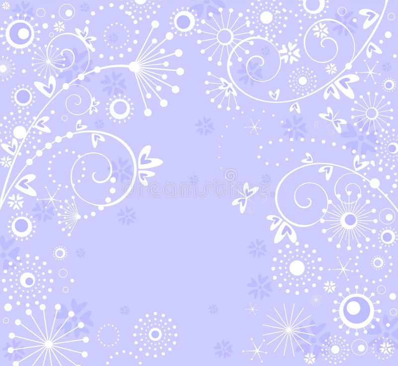 Greeting pastel blue card. With abstract pattern vector illustration