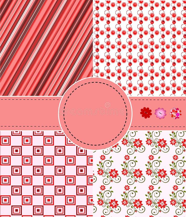 Greeting set of patterns royalty free illustration