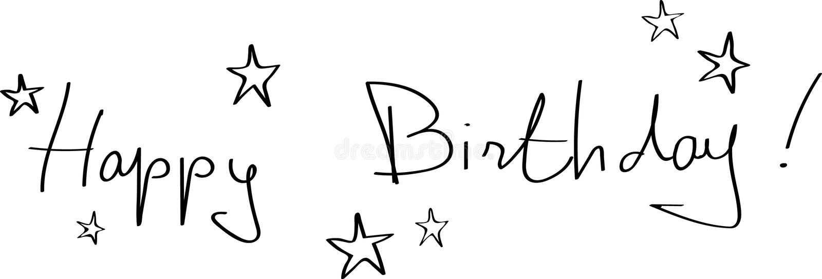 Happy birthday banner royalty free stock images
