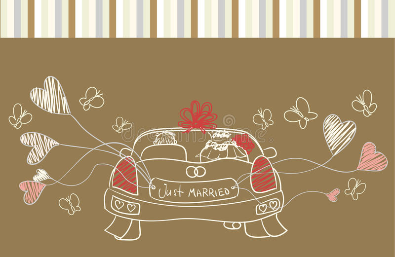 Download Greeting With Wedding Car Royalty Free Stock Photo - Image: 18660525