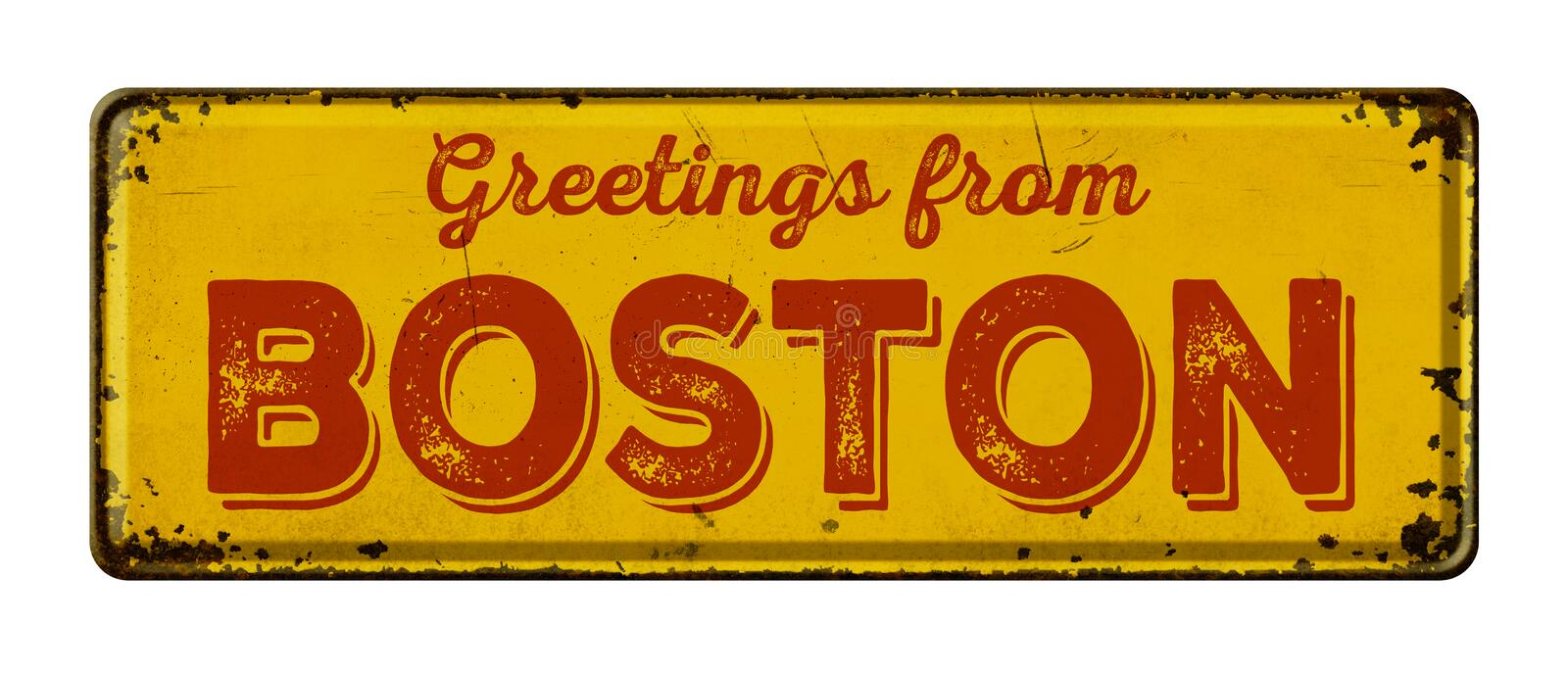 Greetings from Boston royalty free stock images