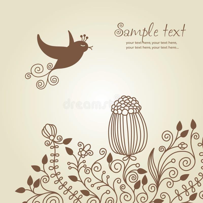 Download Greetings card stock vector. Image of decorative, flourish - 10806701