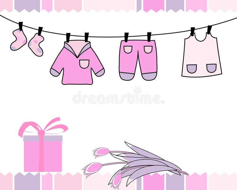 Download Greetings card stock vector. Image of baby, birthday - 12577451