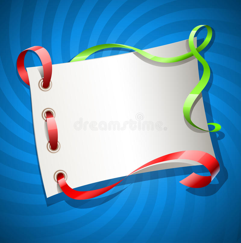 Greetings Card For Holiday With Ribbon Royalty Free Stock Image