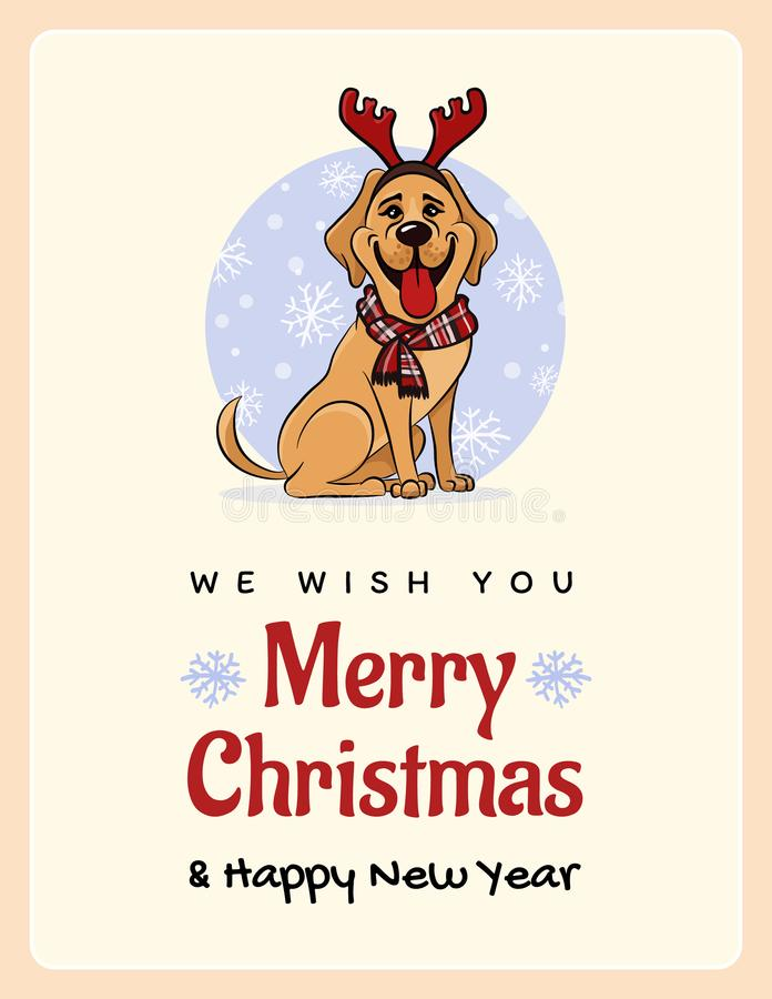 Greetings card we wish you a marry christmas and happy new year download greetings card we wish you a marry christmas and happy new year funny labrador m4hsunfo