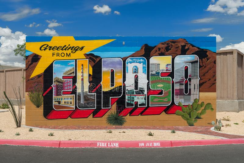Greetings from El Paso royalty free stock image