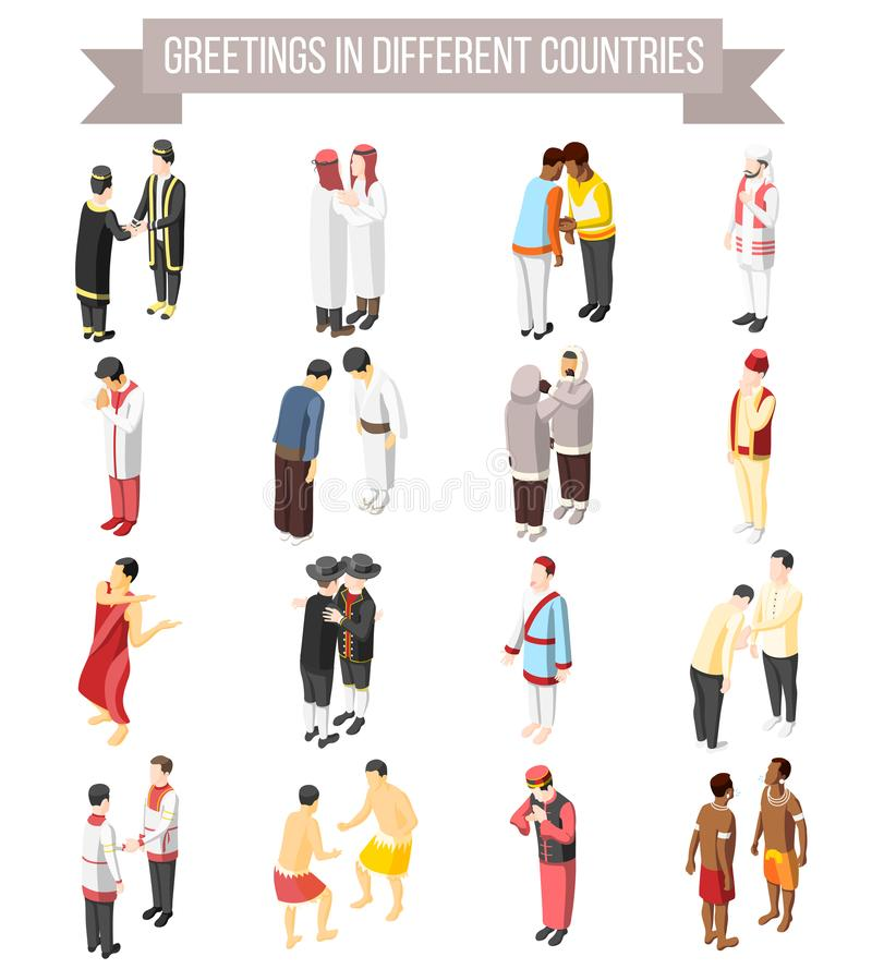 Free Greetings In Different Countries Icons Royalty Free Stock Photography - 135236527