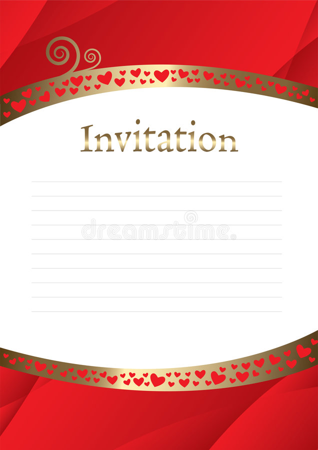 Greetings letter template stock image