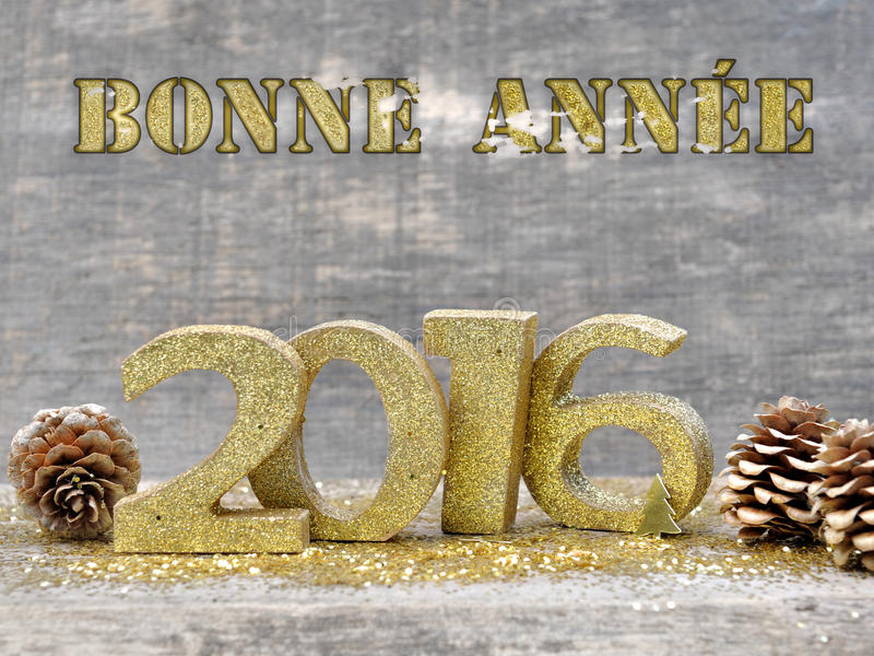 Greetings for new year 2016 royalty free stock photo