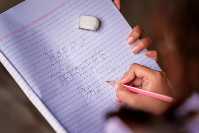 Greetings For Teachers Day royalty free stock photo