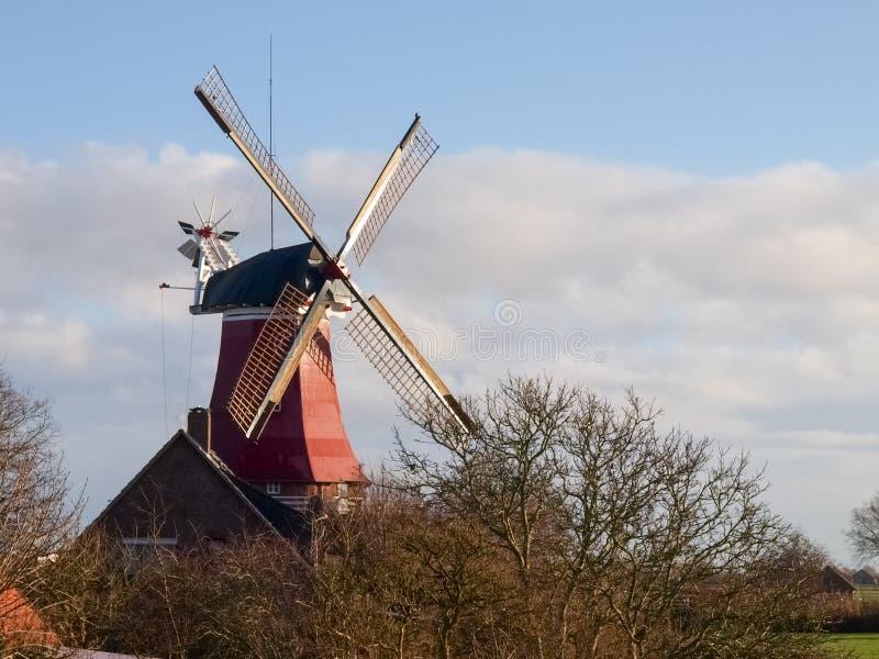 Greetsiel,传统风车 图库摄影