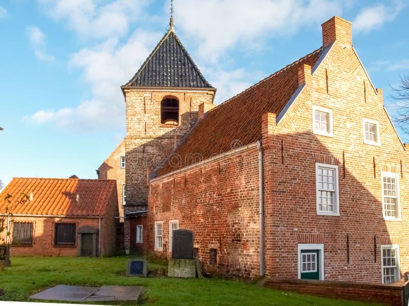Greetsiel,村庄的典型的房子 免版税图库摄影
