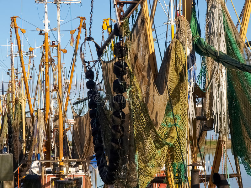 Greetsiel,渔船 免版税库存照片