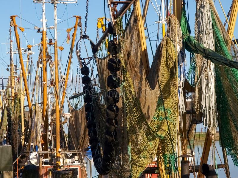 Greetsiel, łodzie rybackie zdjęcia royalty free