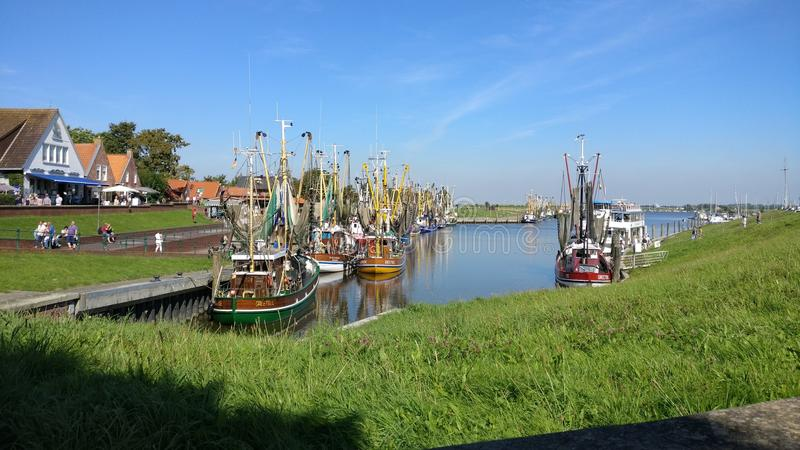 Greetsiel Hafen royalty-vrije stock afbeeldingen