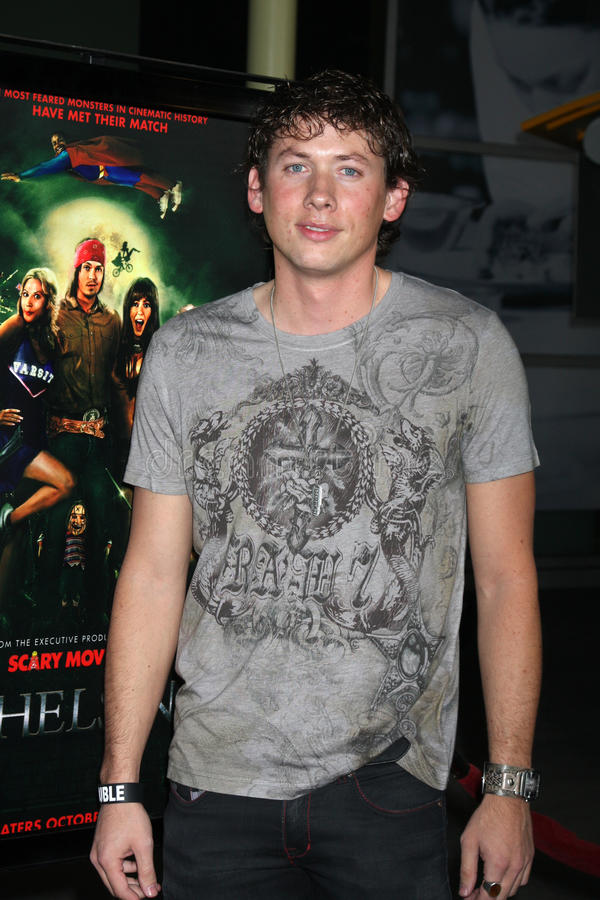 Greg Fellows arriving at the Stan Helsing Premiere stock photos
