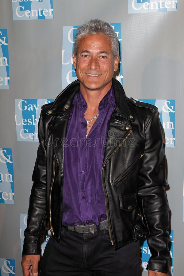 Greg Louganis op L.A.Gay en het Lesbische Centrum   stock foto's