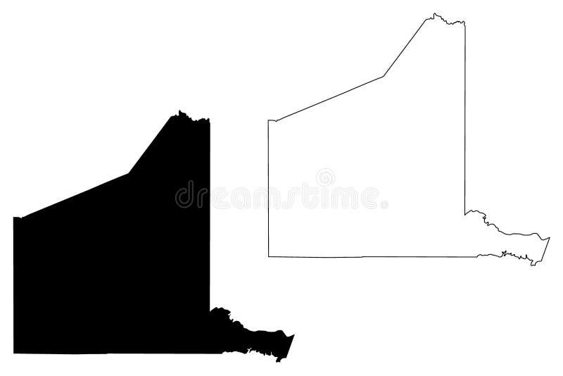 Gregg okręg administracyjny, Teksas okręgi administracyjni w Teksas, Stany Zjednoczone Ameryka, usa, U S , USA mapy wektorowa ilu ilustracji