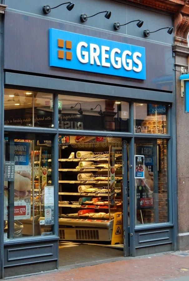 Greggs Store front stock photos