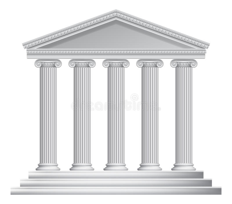 Grego ou Roman Temple Columns ilustração royalty free