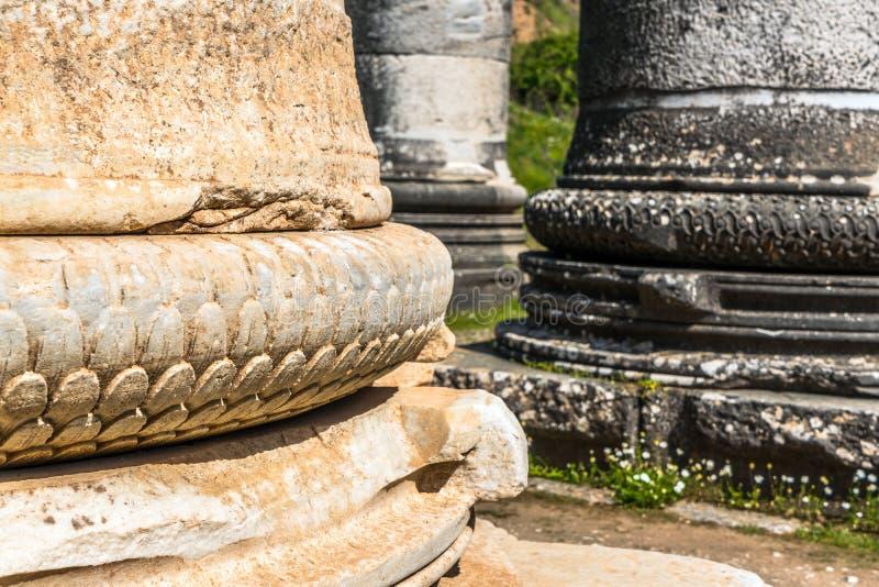 Grego Templo de Ártemis perto de Ephesus e de Sardis imagem de stock royalty free