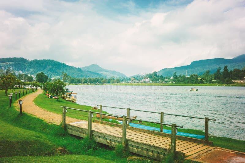 Gregory湖在努沃勒埃利耶 库存照片
