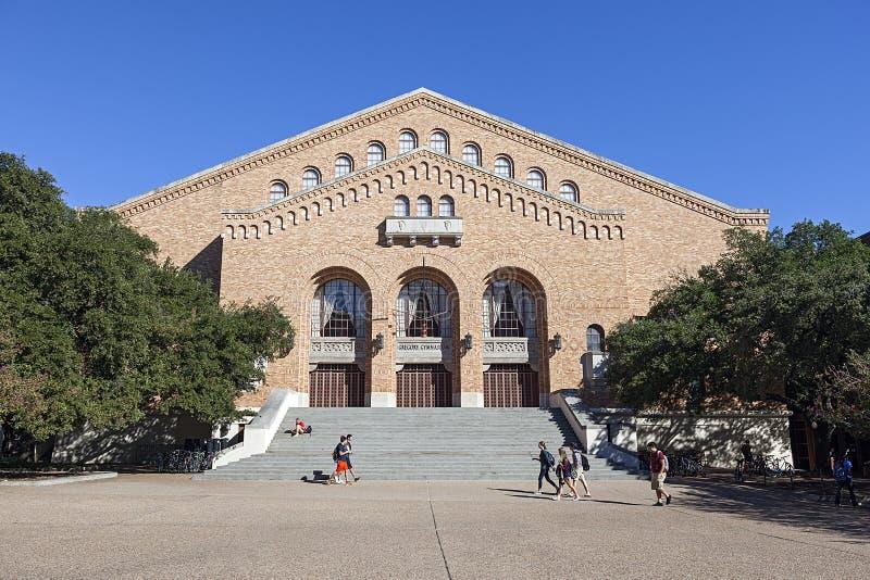 Gregory Gymnasium på Texasuniversitetet arkivbild