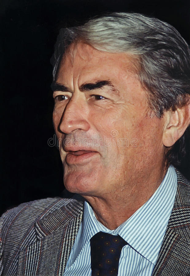 Gregory Peck fotografie stock