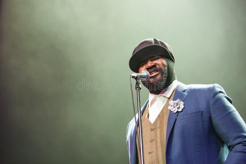 Gregory Porter bij Kaunas-Jazz 2015 royalty-vrije stock foto