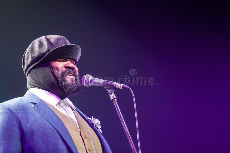 Gregory Porter bij Kaunas-Jazz 2015 stock foto
