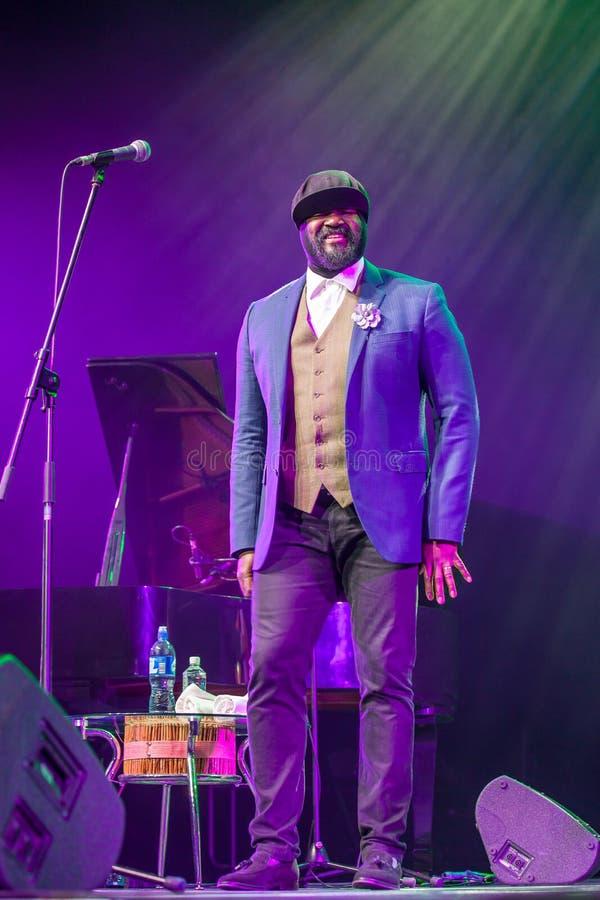 Gregory Porter bij Kaunas-Jazz 2015 stock foto's