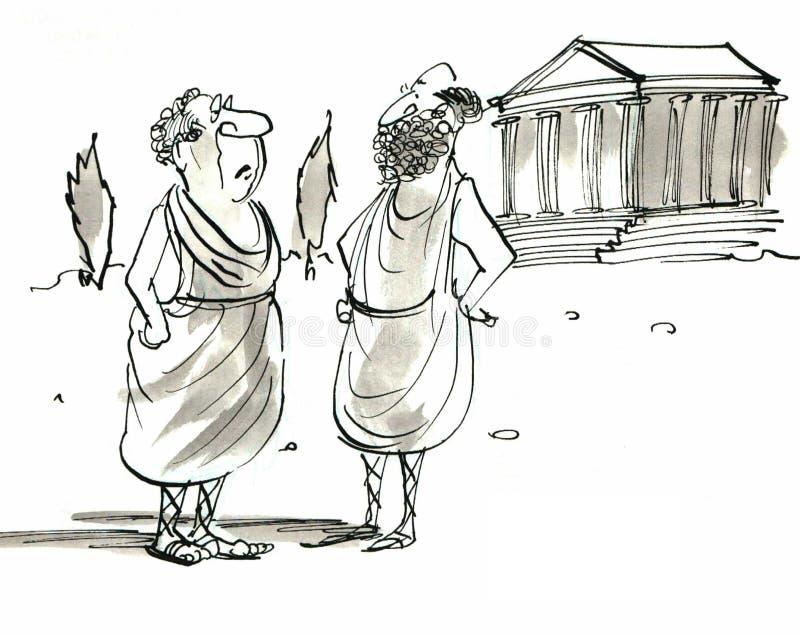 Gregos ilustração royalty free