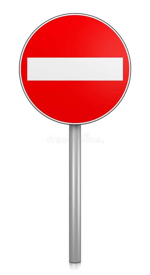 Greifen Sie auf verweigertes Verkehrsschild zu stock abbildung