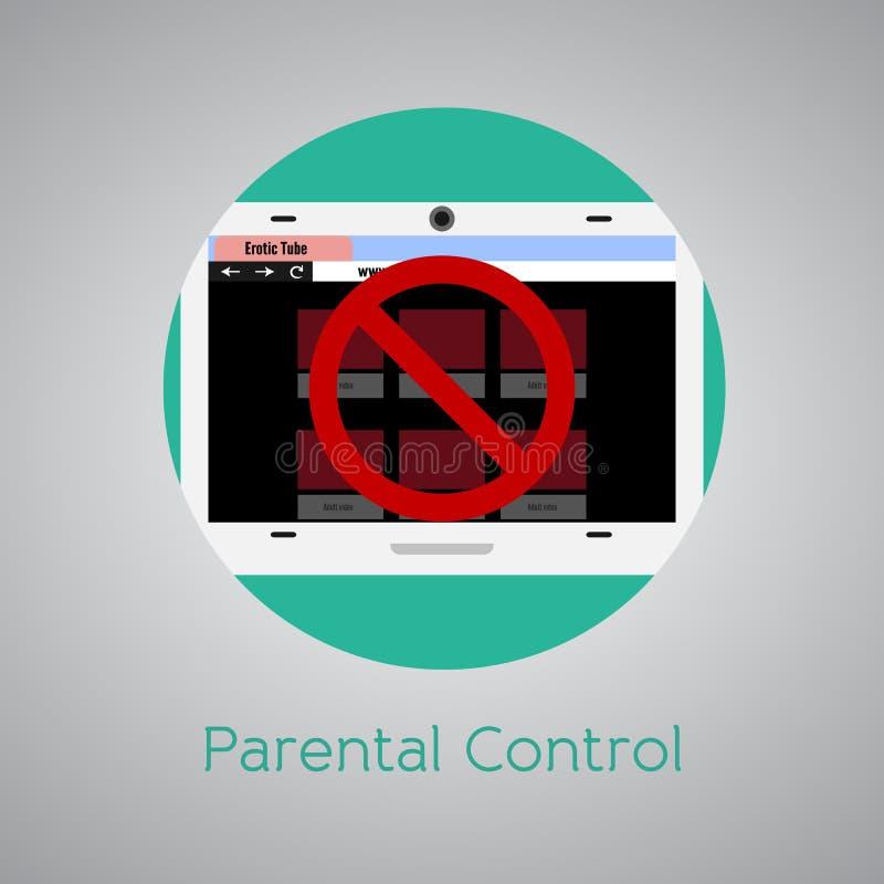 Greifen Sie verboten zur Webseite für Kinder zu vektor abbildung