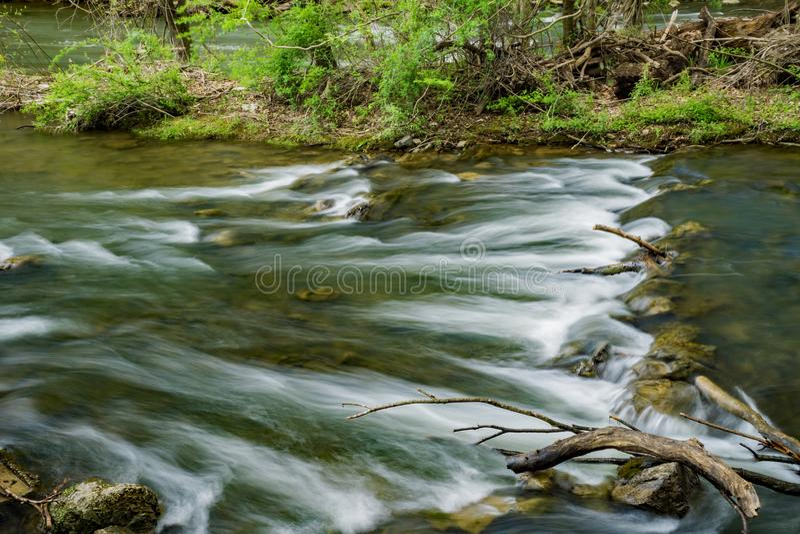Greja Creek Trout Stream royaltyfri foto