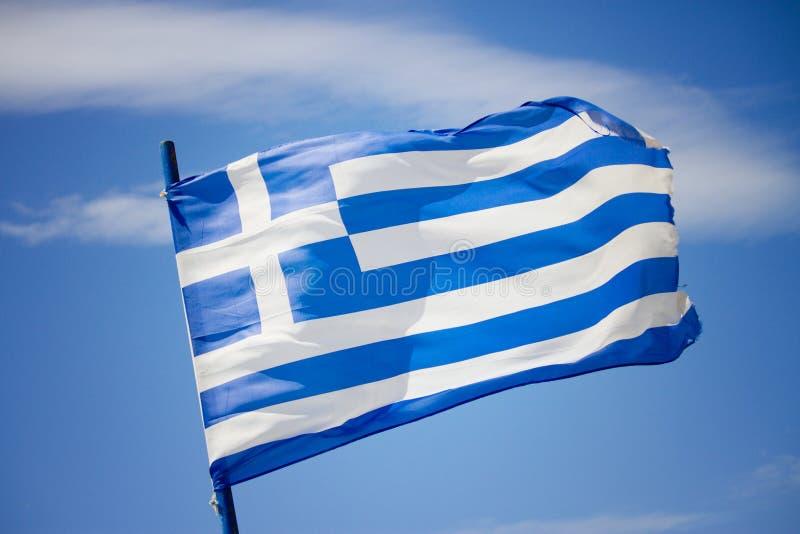 grek bandery zdjęcia stock