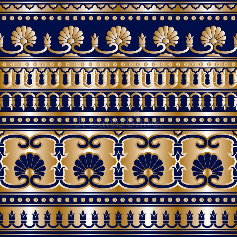 Grek dell'oro senza cuciture illustrazione vettoriale