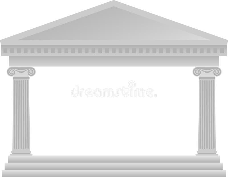 grek för arkitekturkolonneps stock illustrationer