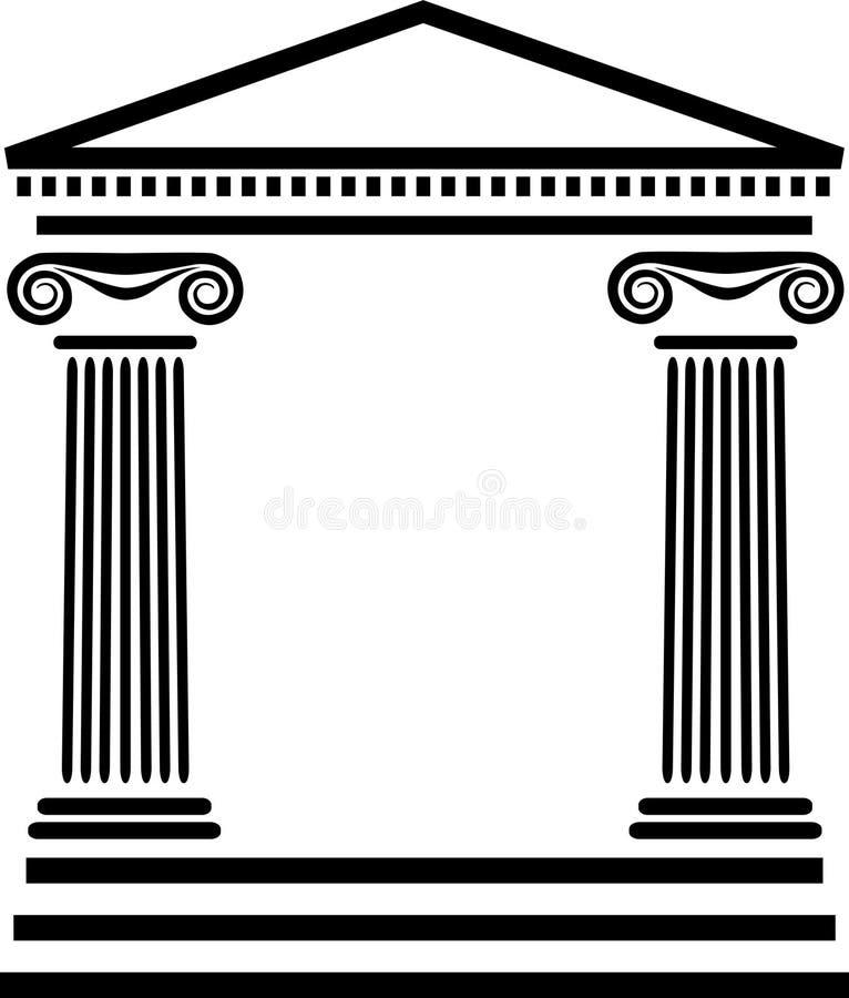 grek för arkitekturkolonneps vektor illustrationer