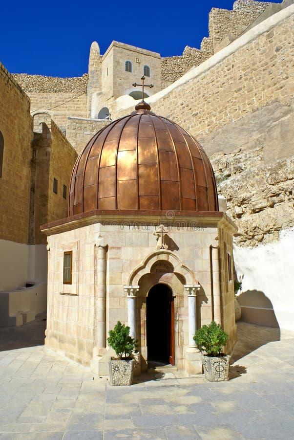grek ja mącę monasteru ortodoksyjnego saba sabas st zdjęcie royalty free