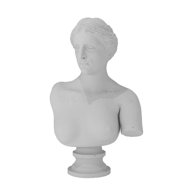 grek odizolowywający rzeźby biel ilustracja wektor