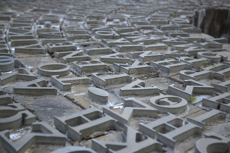 greken letters metall fotografering för bildbyråer