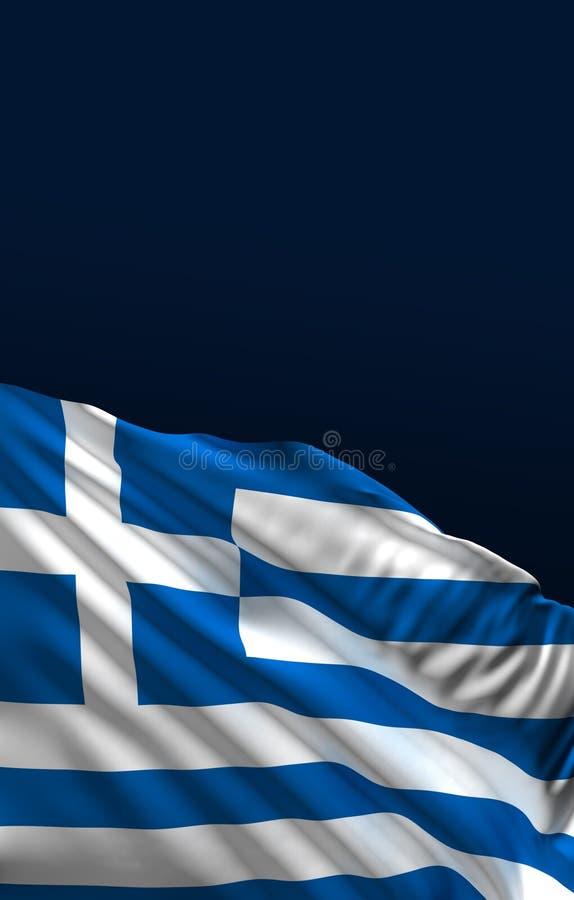 Grekisk flagga, tolkning för Grekland färger 3D royaltyfri illustrationer
