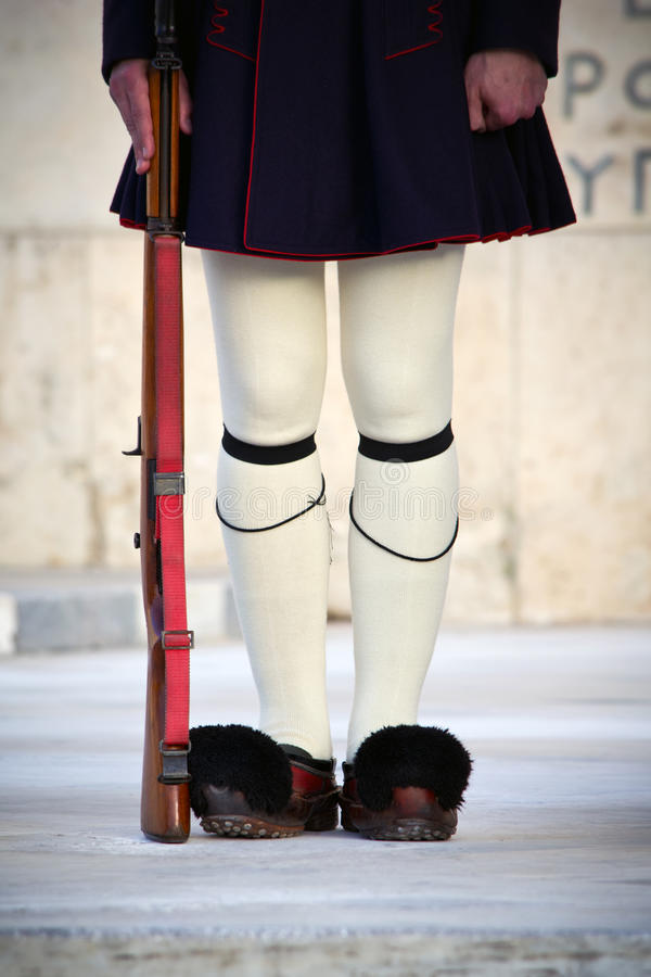 grekisk guard arkivfoton