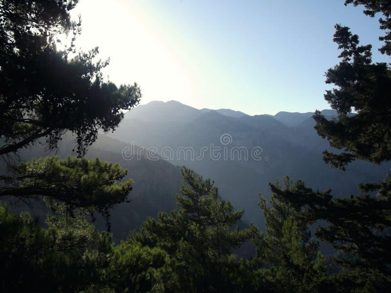 Grekisk himmel royaltyfri foto