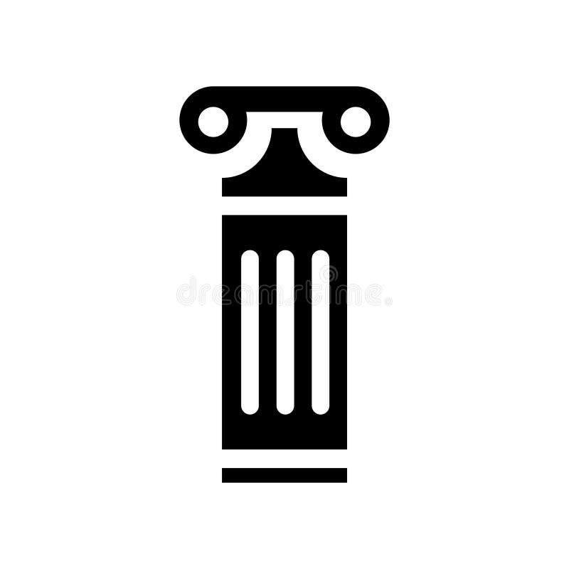 Grekisk kolonnsymbolsvektor som isoleras på vit bakgrund, grekiskt kolonntecken, konstruktionssymboler stock illustrationer
