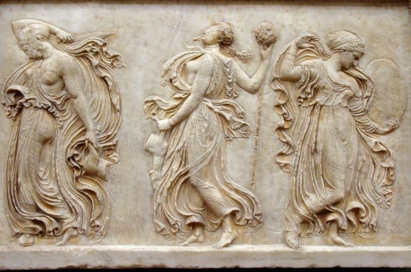 Grekisk lättnad royaltyfria foton