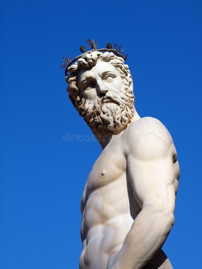 grekisk neptune för gud staty arkivfoto